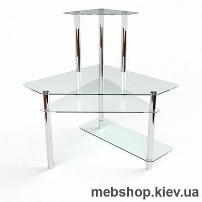 Купить Компьютерный стол из стекла БЦ Фемида (1300*1300). Фото