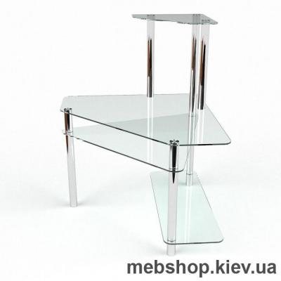 Компьютерный стол из стекла БЦ Фемида (1300*1300)