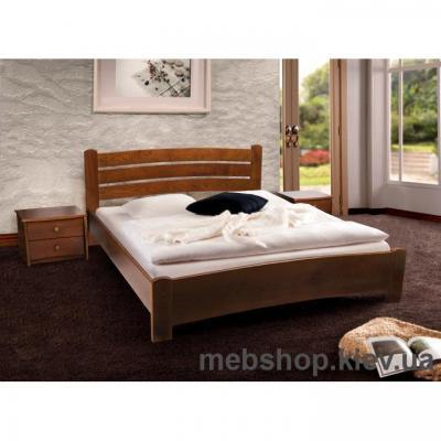 Кровать деревянная София (орех темный) Микс Мебель