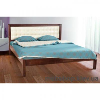 Кровать деревянная мягкая  Карина