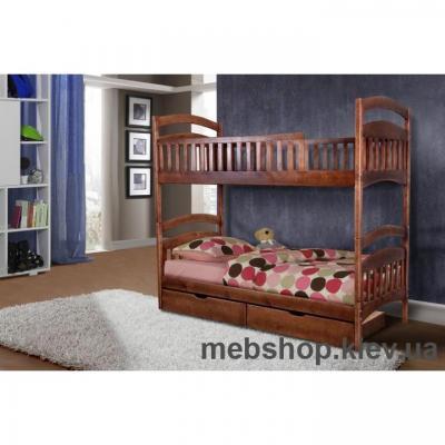 Кровать деревянная двухярусная Кира МиксМебель