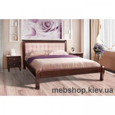 Кровать деревянная мягкая Соната Микс Мебель