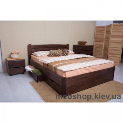 Кровать деревянная София с ящиками
