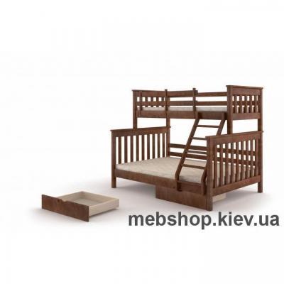 Купить Кровать двухярусная Скандинавия Миксмебель. Фото