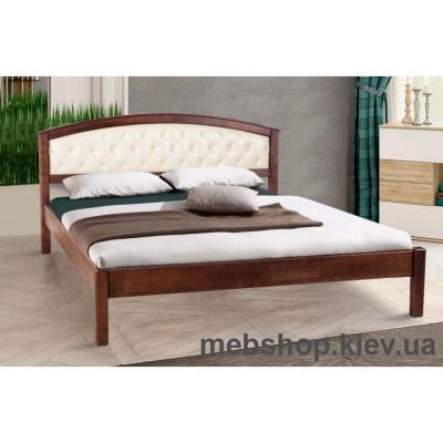 Ліжко Дерев'яна Джульєта (М'яке Узголів'я) Мікс Меблі