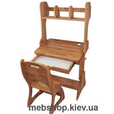 Купить парта с надстройкой + стул моблер. Фото