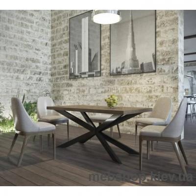 Стол обеденный Икс (Металл-Дизайн)
