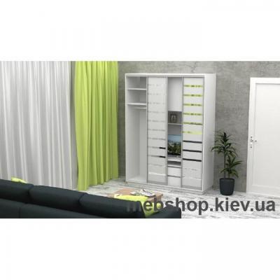 Шкаф-купе FLASHNIKA Слайд 1 (двери зеркало с пескоструем)