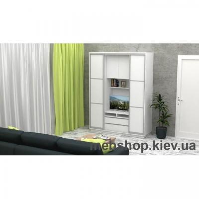 Шкаф-купе FLASHNIKA Слайд 1 (двери ДСП с перемычками)