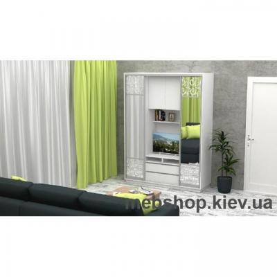 Шкаф-купе FLASHNIKA Слайд 1 (двери зеркало комби зеркало с пескоструем)