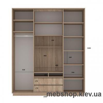 Шкаф-купе FLASHNIKA Слайд 2 (двери зеркало с пескоструем)