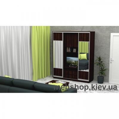 Шкаф-купе FLASHNIKA Слайд 2 (двери ДСП комби зеркало)