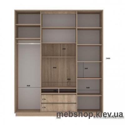 Шкаф-купе FLASHNIKA Слайд 3 (двери зеркало с пескоструем)
