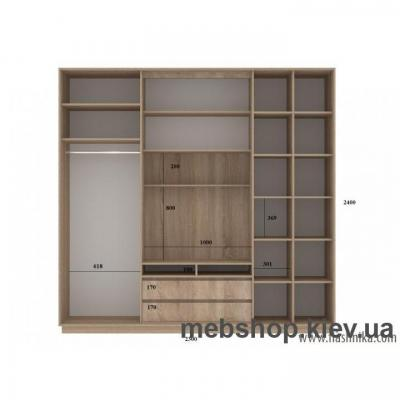 Шкаф-купе FLASHNIKA Слайд 6 (двери зеркало с пескоструем)