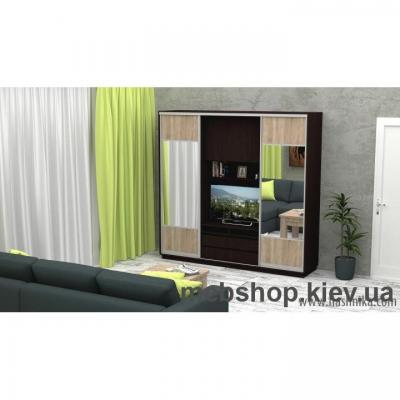 Купить Шкаф-купе FLASHNIKA Слайд 6 (двери ДСП комби зеркало). Фото