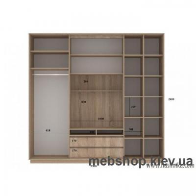 Шкаф-купе FLASHNIKA Слайд 6 (двери зеркало комби зеркало с пескоструем)