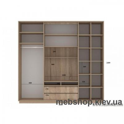 Шкаф-купе FLASHNIKA Слайд 7 (двери зеркало с пескоструем)