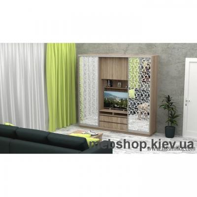 Купить Шкаф-купе FLASHNIKA Слайд 8 (двери зеркало с пескоструем) . Фото