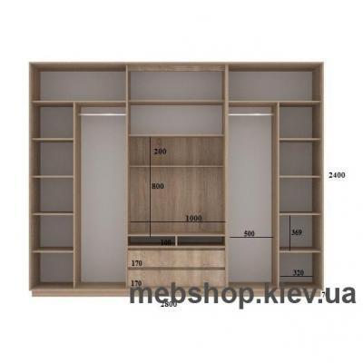 Шкаф-купе FLASHNIKA Слайд 11 (двери зеркало комби зеркало с пескоструем)