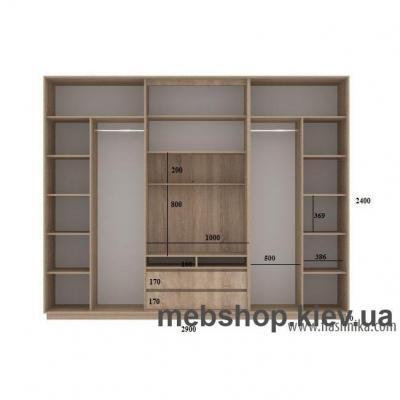 Шкаф-купе FLASHNIKA Слайд 12 (двери зеркало комби зеркало с пескоструем)