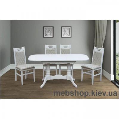 Стол обеденный Шервуд ( белый, слоновая кость) Микс Мебель