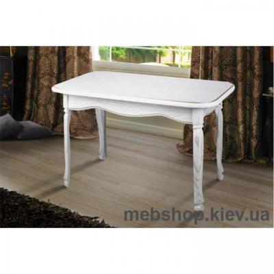 Стол обеденный Гаити (белый/патина) Микс Мебель
