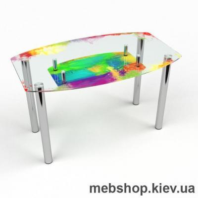 Купить Обеденный стол Бочка с полкой. Фото