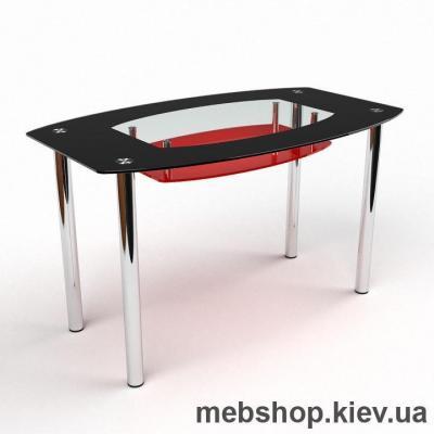 Обеденный стол Бочка (красно-черный)