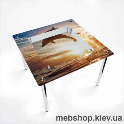Обеденный стол Квадратный с полкой
