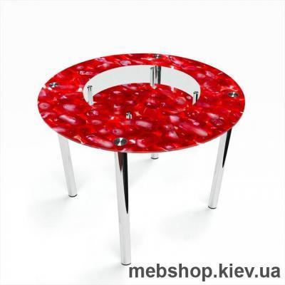 Обеденный стол Круглый с полкой