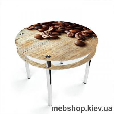 Обеденный стол Круглый с проходящей полкой