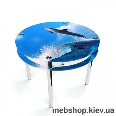 Купить Обеденный стол Круглый с проходящей полкой. Фото
