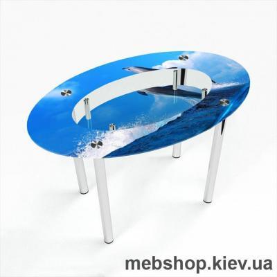 Обеденный стол Овальный с полкой