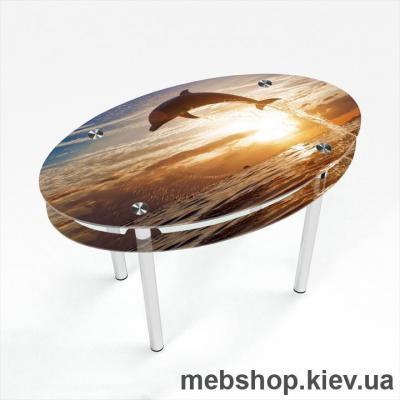 Обеденный стол Овальный с проходящей полкой
