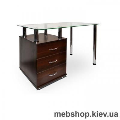 Офисный стол из ДСП и стекла ESCADO КС-1 прозрачный