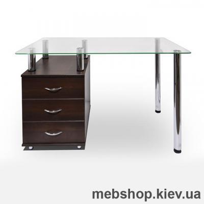 Купить Офисный стол из ДСП и стекла ESCADO КС-1 прозрачный. Фото