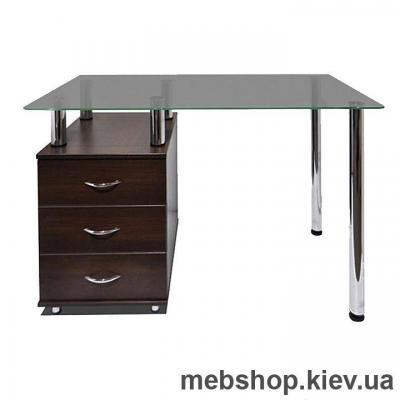 Купить Офисный стол из ДСП и стекла ESCADO КС-1 матовый. Фото