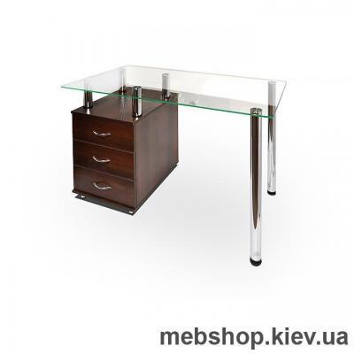 Офисный стол из ДСП и стекла ESCADO КС-1 нанесение рисунка, узора, фотопечати или заливка цветом