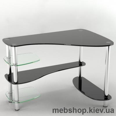 Купить Стол компьютерный стеклянный ESCADO Р-7 прозрачный. Фото