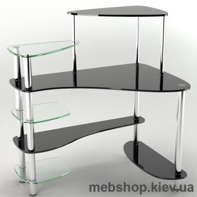 Купить Стол компьютерный стеклянный ESCADO Р-8 матовый. Фото