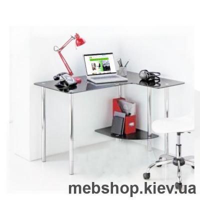 Купить Стол компьютерный стеклянный ESCADO Р-9 прозрачный. Фото