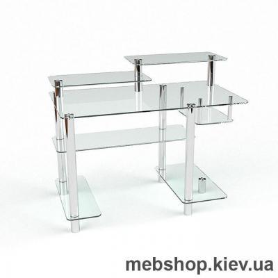 Купить Стол компьютерный стеклянный ESCADO Р-10 прозрачный. Фото