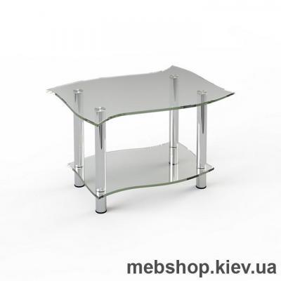 Журнальный стол стеклянный ESCADO JTI 001 верх нанесение рисунка, узора, фотопечати или заливка цветом; низ прозрачный