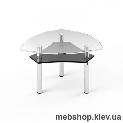 Журнальный стол стеклянный ESCADO JTI 002 верх прозрачный; низ нанесение рисунка, узора, фотопечати или заливка цветом