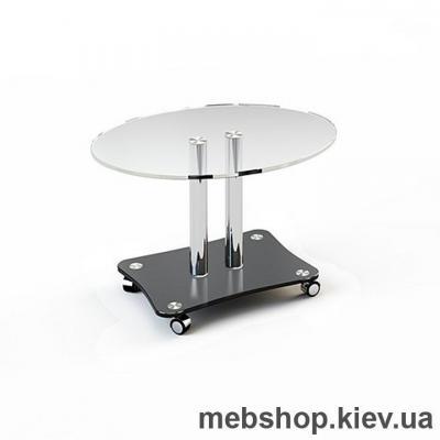 Купить Журнальный стол стеклянный ESCADO JTO 001 верх прозрачный; низ нанесение рисунка, узора, фотопечати или заливка цветом. Фото