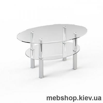 Купить Журнальный стол стеклянный ESCADO JTO 002 верх прозрачный; низ нанесение рисунка, узора, фотопечати или заливка цветом. Фото