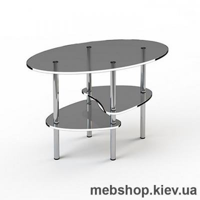 Купить Журнальный стол стеклянный ESCADO JTO 003 верх прозрачный; низ нанесение рисунка, узора, фотопечати или заливка цветом. Фото