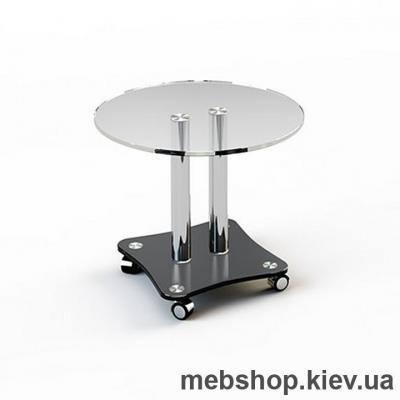 Купить Журнальный стол стеклянный ESCADO JTR 001 верх прозрачный; низ нанесение рисунка, узора, фотопечати или заливка цветом. Фото