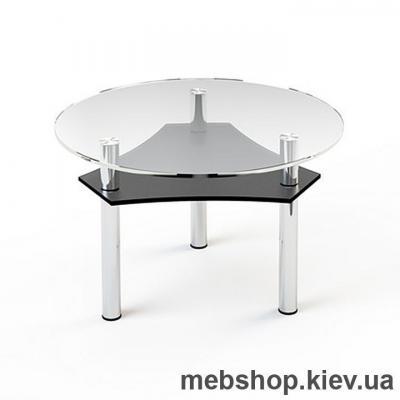 Купить Журнальный стол стеклянный ESCADO JTR 002 верх нанесение рисунка, узора, фотопечати или заливка цветом; низ прозрачный. Фото