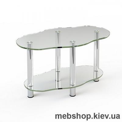 Журнальный стол стеклянный ESCADO JTR 004 верх прозрачный; низ нанесение рисунка, узора, фотопечати или заливка цветом